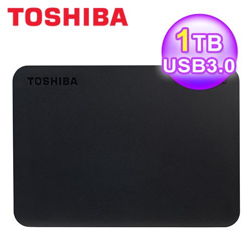 TOSHIBA 黑靚潮III 1TB USB3.0 2.5吋行動硬碟(黑)
