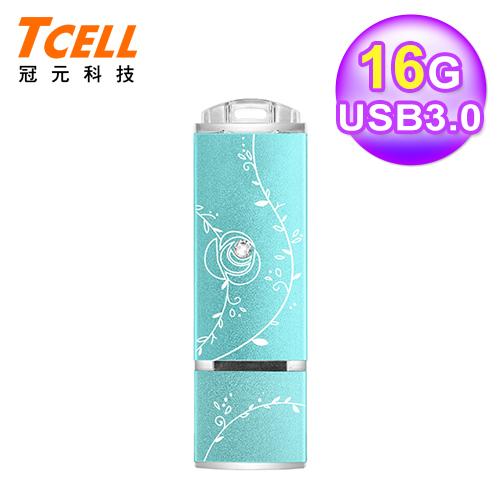 TCELL 冠元 USB3.0 16GB 絢麗粉彩隨身碟-蒂芬妮藍