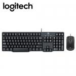 Logitech 羅技 MK100 有線鍵盤滑鼠組 黑