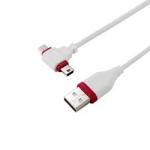 群加 USB T型傳輸充電兩用線 GRMIB5122 白紅