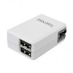 Esense 2.1A 雙 USB 電源供應器 白