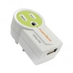 群加 旋轉AC插座USB充電器 綠