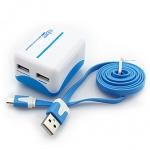 i-gota 智慧型3.1A雙充USB充電器 藍