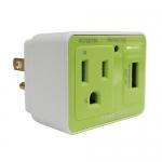 群加 防雷擊抗突波AC USB壁插 綠