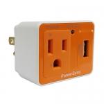 群加 防雷擊抗突波AC USB壁插 橘