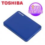 東芝 Toshiba 1T 2.5吋 ConnectII V8 行動硬碟 藍 USB3.0