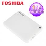 東芝 Toshiba 1T 2.5吋 ConnectII V8 行動硬碟 白 USB3.0