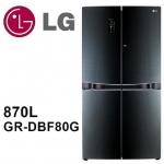 加碼送【LG樂金】870L魔術門中門多門冰箱GR-DBF80G