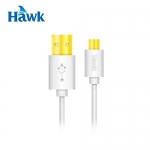 HAWK MICRO USB平板快充傳輸線 白