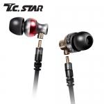 T.C.STAR TCE6110BK 雙機體入耳式耳麥(黑)