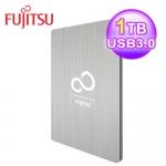 富士通 2.5吋 1T 外接式硬碟-時尚銀