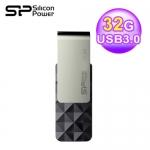 Silicon Power 廣穎 B30 32GB 晶鑽旋轉碟 USB3.0 黑