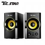 T.C.STAR 木質USB電腦多媒體喇叭 TCS2423