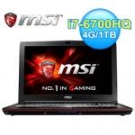 msi 微星 GP62 6QF-824TW 15.6吋 六代筆電