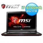 msi 微星 GP72 6QE-670TW 17.3吋 六代筆電