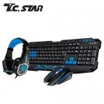 T.C.STAR KIT9908BU 電競鍵盤滑鼠耳機組