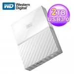 WD 威騰 My Passport 2TB 2.5吋 外接硬碟(WESN)-白