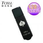 TCELL 128GB 撲克隨身碟 黑桃A