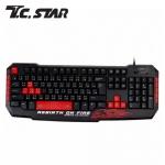 T.C.STAR TCK805RD 有線電競鍵盤 紅