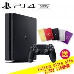 SONY PS4 500G薄型主機 CUH-2017AB01 黑【 送 Fujitsu ultra slim 2.5吋 1TB 硬碟(不挑色)】