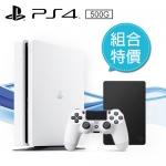 PS4 500G 薄型主機CUH-2017AB01 白 Seagate PS4 Game 2.5吋 2TB外接硬碟