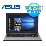 ASUS VivoBook 15.6吋 效能美型筆電 霧面灰【《加碼送》Office 365 中文個人版1年】
