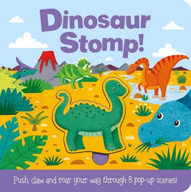 Push and Play: Dinosaur Stomp!  迷失侏羅紀(遊戲書)厚頁書(外文書)