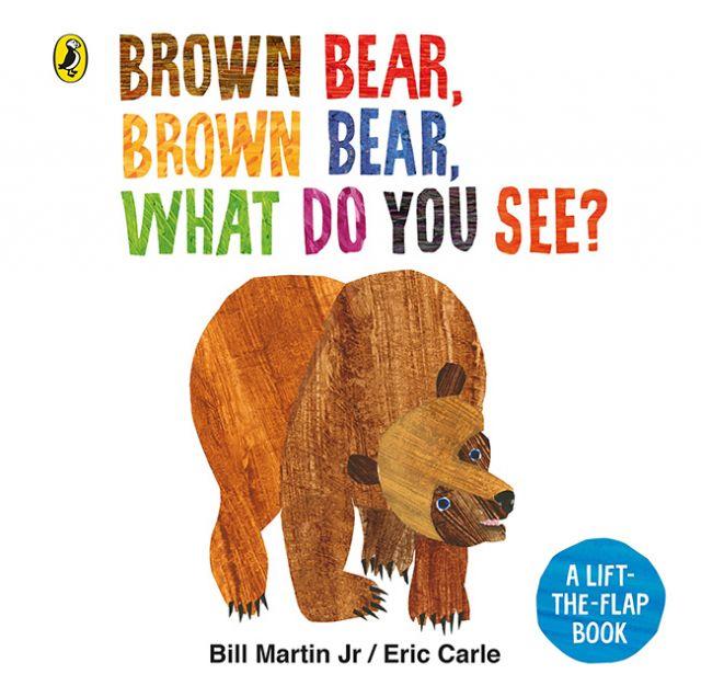 Brown Bear, Brown Bear, What Do You See?  棕熊、棕熊 你在看什麼 (翻翻書)厚頁書(外文書)