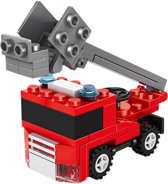 扭蛋迷你積木:消防雲梯車