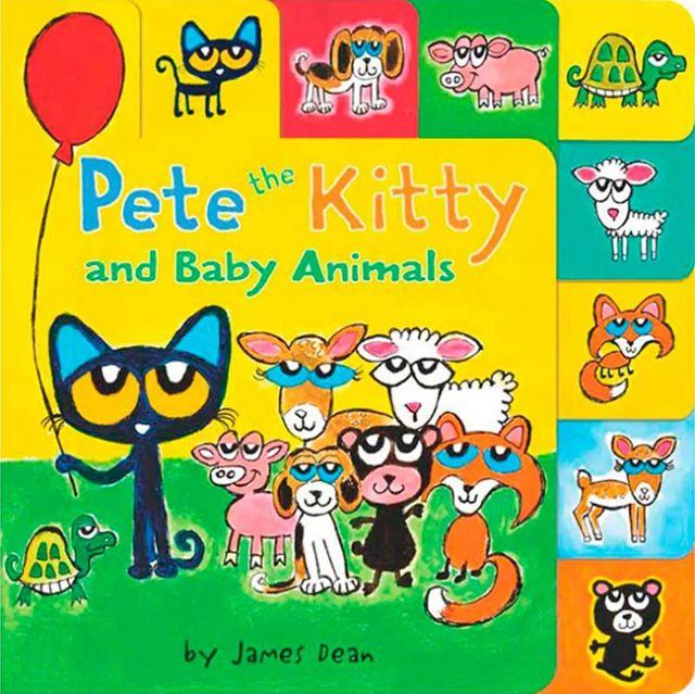 Pete the Kitty and Baby Animals  皮皮貓和小動物(厚頁書)(外文書)