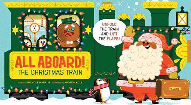 All Aboard! The Christmas Train  聖誕列車總動員(厚頁書)(外文書)