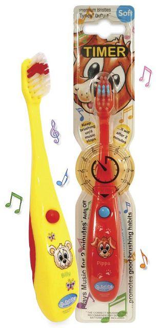 (英國B-Brite)兒童歡樂計時牙刷(音樂版)四歲以上(可愛動物系列)