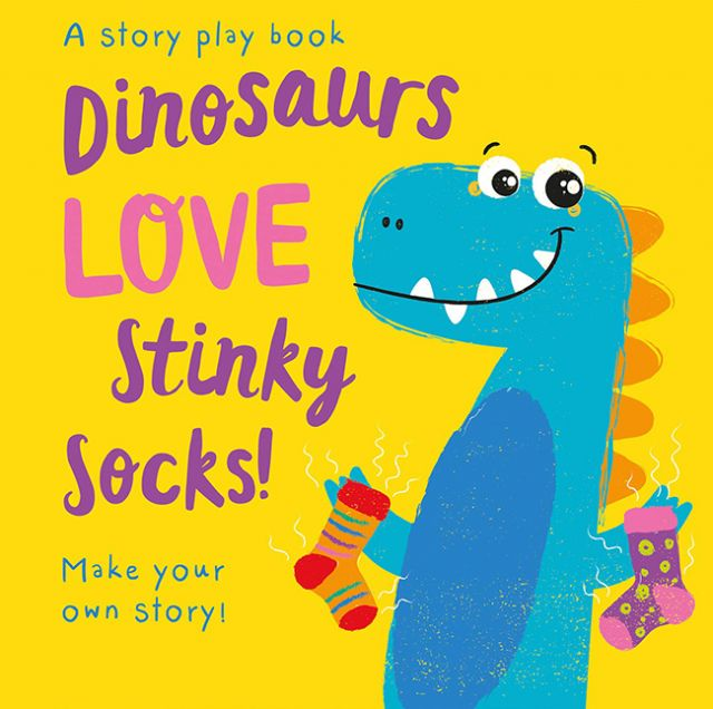 Dinosaurs LOVE Stinky Socks!  小恐龍愛臭襪襪(拼圖配對書)厚頁書(外文書)