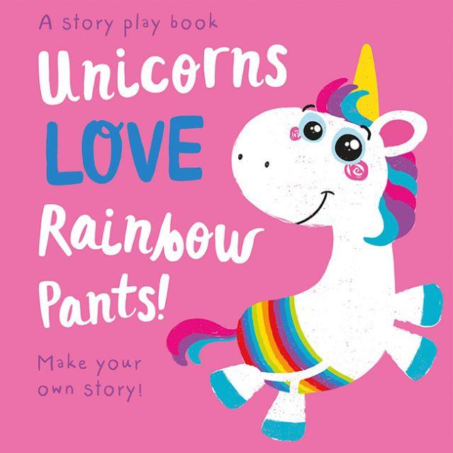 Unicorns LOVE Rainbow Pants!  獨角獸愛彩虹褲(拼圖配對書)厚頁書(外文書)
