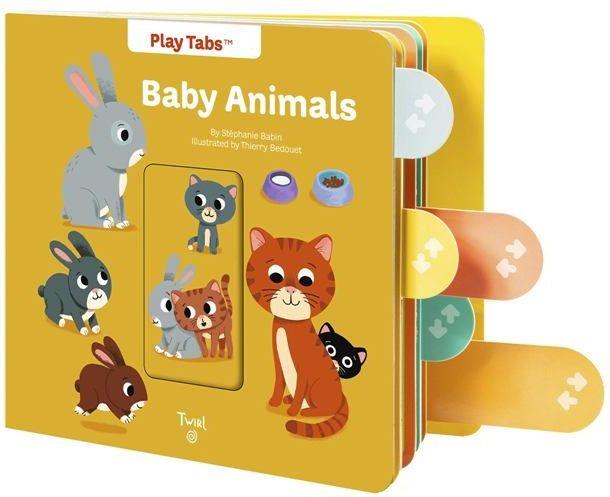 Baby Animals  動物寶寶(操作書)厚頁書(外文書)