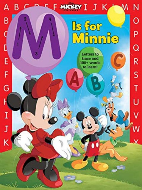 M is for Minnie  米妮字母學習書(厚頁書)(外文書)