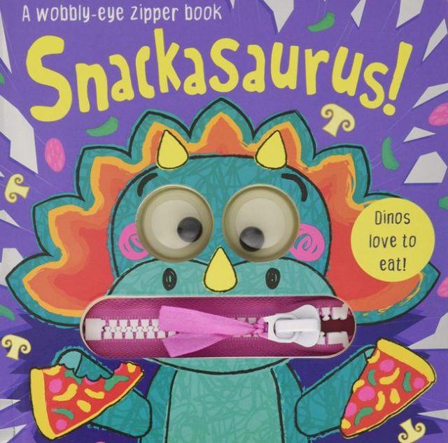 Snackasaurus!  貪吃恐龍!(厚頁書)(外文書)