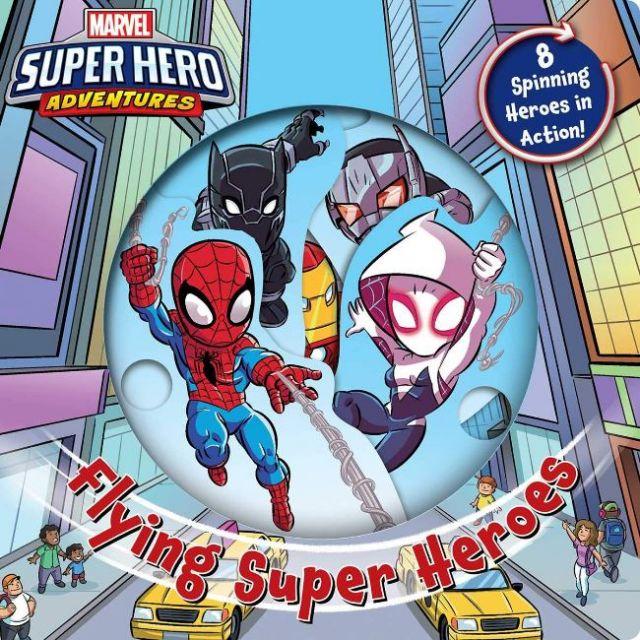 Marvel Flying Super Heroes  飛翔吧!漫威超級英雄(轉轉書)厚頁書(外文書)