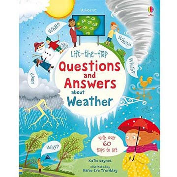 Lift-The-Flap Questions And Answers About Weather 天氣知識翻翻學習書(外文書)