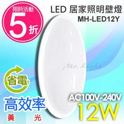 【有燈氏】★現打五折★附發票 LED 12W 簡約蛋型 壁燈 小吸頂燈 全電壓 樓梯 玄關 陽台燈【MH-LED12Y】