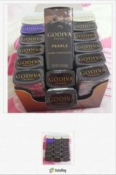 現貨2019/06[首購七送一]~GODIVA 珍珠鐵盒巧克力-黑巧克力 43g