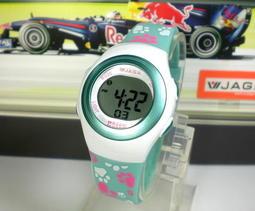 地球儀鐘錶 JAGA 冷光電子錶 QQ糖系列 超人氣 炫麗 生日禮物 上班族 學生兒童電子錶【↘420】M1062白綠