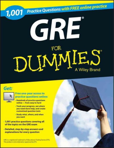 1,001 Gre Practice Questions for Dummies + Free Online Practice Tests