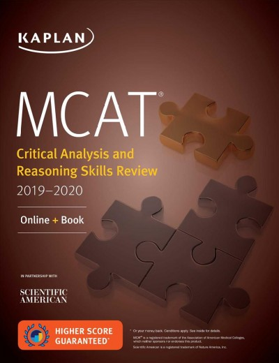 Mcat Critical Analysis and Reasoning Skills Review 2019-2020 + Online Access Card