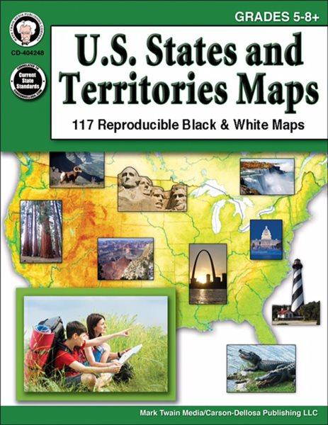 U.S. States and Territories Maps, Grades 5-8+