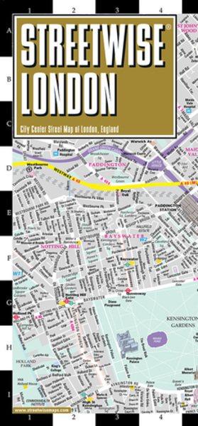 Streetwise London Map - Laminated City Center Street Map of London, England