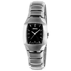 SEIKO 新都會腕錶(酒桶)(男黑)SKK331P1