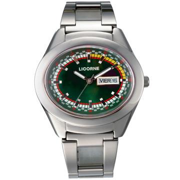 LICORNE 科技新色彩腕錶(寶石綠)