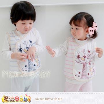 【魔法Baby】百貨專櫃正品LE18品牌~大樹鋪棉背心外套(粉.藍)~男女童裝~k29444