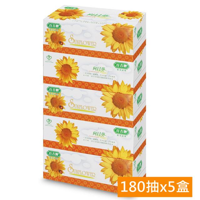 《百吉牌》抽取式盒裝面紙(180抽x5盒)